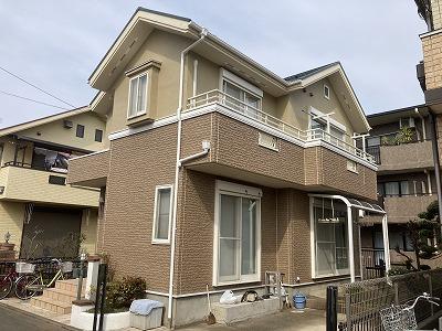 2021/04/28小平市小川町住宅塗装工事