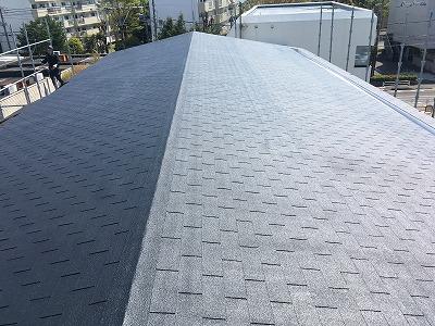 2020/05/09立川市幸町マンションシングル屋根塗装工事