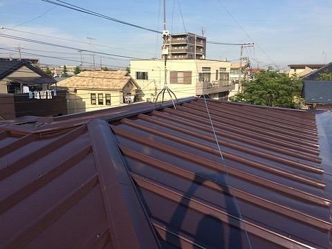 2016/07/27昭島市拝島町トタン屋根塗装工事