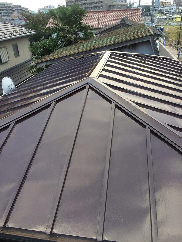 2016/10/10所沢市東狭山ヶ丘住宅トタン屋根塗装工事